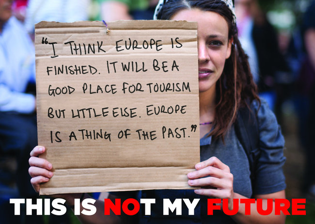 "Claim de la campaña ""This is my future"""