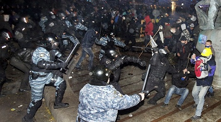 Protestas en Kiev por el la negativa de Yanukovich a la UE