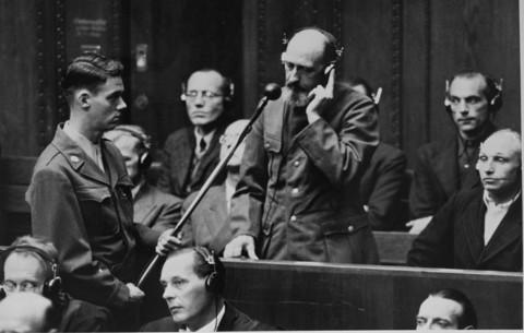 Paul Blobel en los juicios de Nuremberg