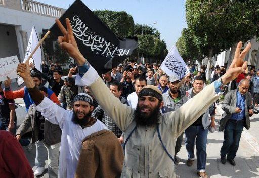 Demostraciones salafistas en Tunez