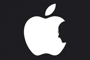 silueta steve jobs manzana apple